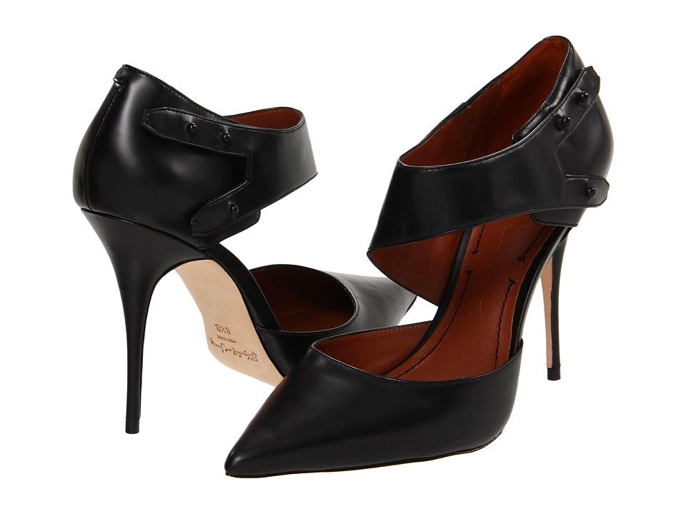 Elizabeth and James - Sand (Black Leather) Women's Slip-on Dress Shoes