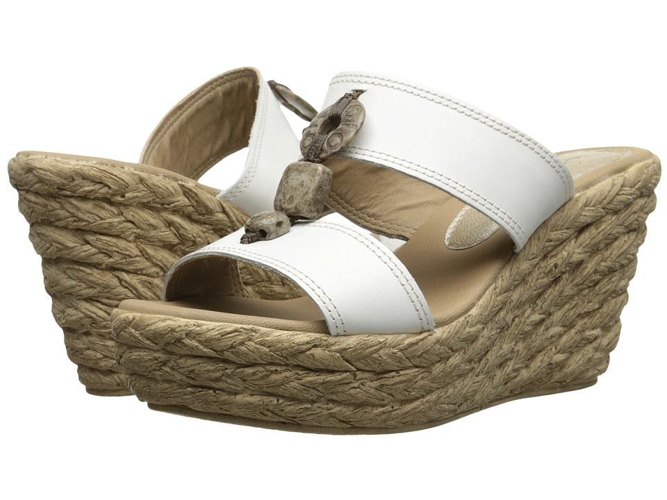 Spring Step - Harvard (White Leather) Women's Wedge Shoes