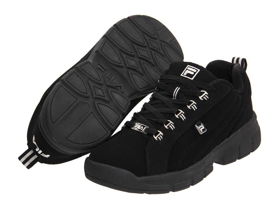 Fila Exchange 2K10 (Black/Black/Metallic Silver) Men