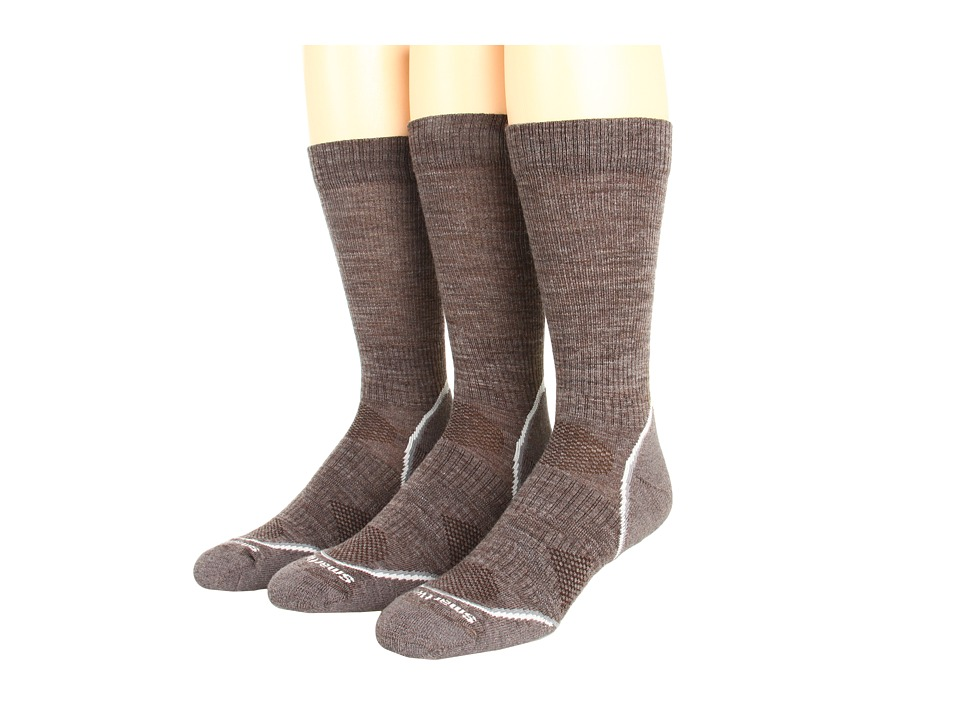 Smartwool - PhD Outdoor Light Crew 3-Pack (Taupe) Men's Crew Cut Socks Shoes
