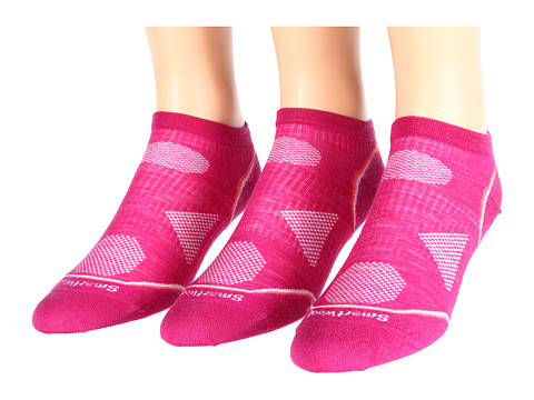 Smartwool - PhD Run Ultra Light Micro 3-Pack (Berry) Women's Crew Cut Socks Shoes