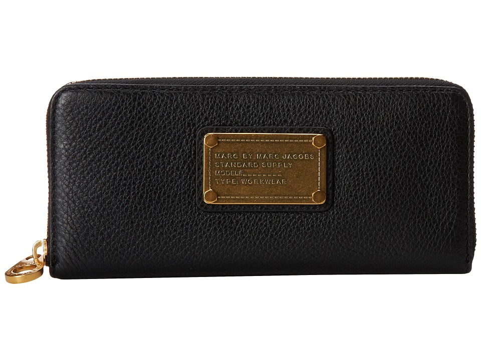 Marc by Marc Jacobs - Classic Q Slim Zip Around (Black) Wallet Handbags