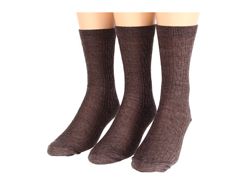 Smartwool - Cable 3-Pair Pack (Taupe Heather) Women's Crew Cut Socks Shoes