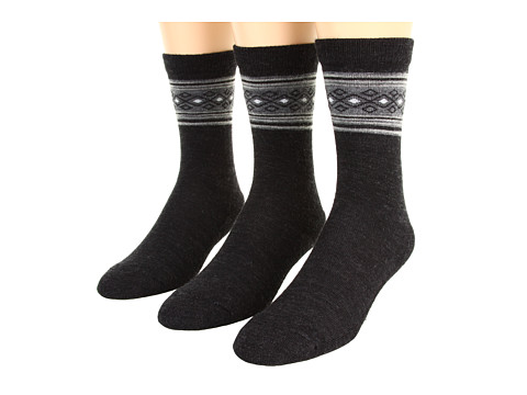 Smartwool - Chincherro 3-Pack (Charcoal Heather) Women's Crew Cut Socks Shoes