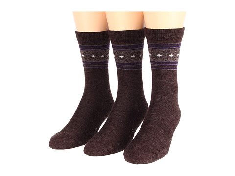 Smartwool - Chincherro 3-Pack (Chestnut Heather) Women's Crew Cut Socks Shoes