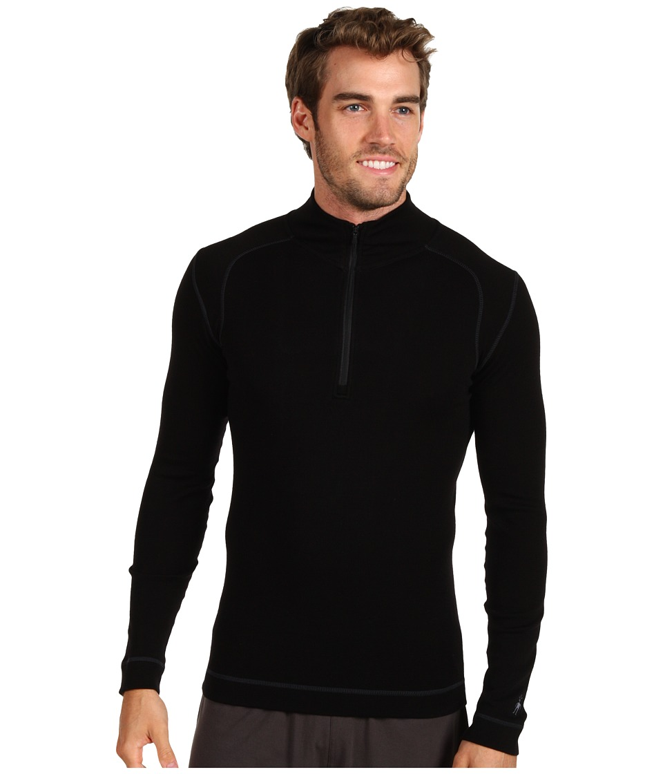 Smartwool - Midweight Zip T (Black) Men's Long Sleeve Pullover