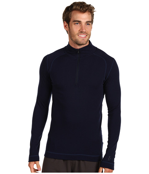 Smartwool - Midweight Zip T (Deep Navy) Men's Long Sleeve Pullover