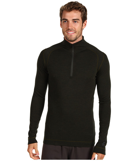 Smartwool - Midweight Zip T (Olive Heather) Men's Long Sleeve Pullover
