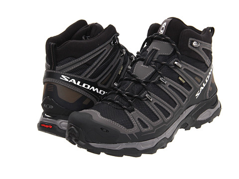 Salomon - X Ultra Mid GORE-TEX (Black/Autobahn) Men's Hiking Boots