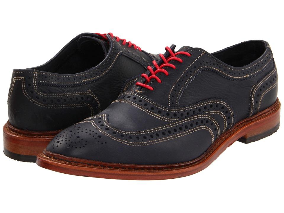 Allen-Edmonds - Neumok (Blue Leather) Men's Lace Up Wing Tip Shoes