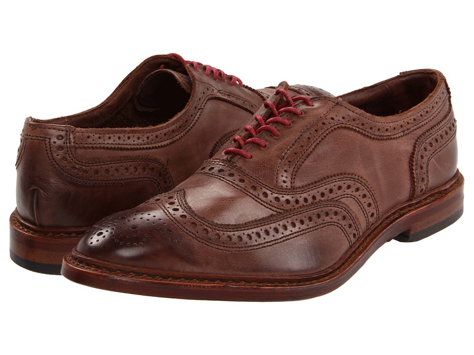 Allen-Edmonds - Neumok (Brown Leather) Men's Lace Up Wing Tip Shoes