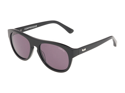 Vestal - Compressor (Polished Black/Grey/Brushed Silver) Plastic Frame Sport Sunglasses
