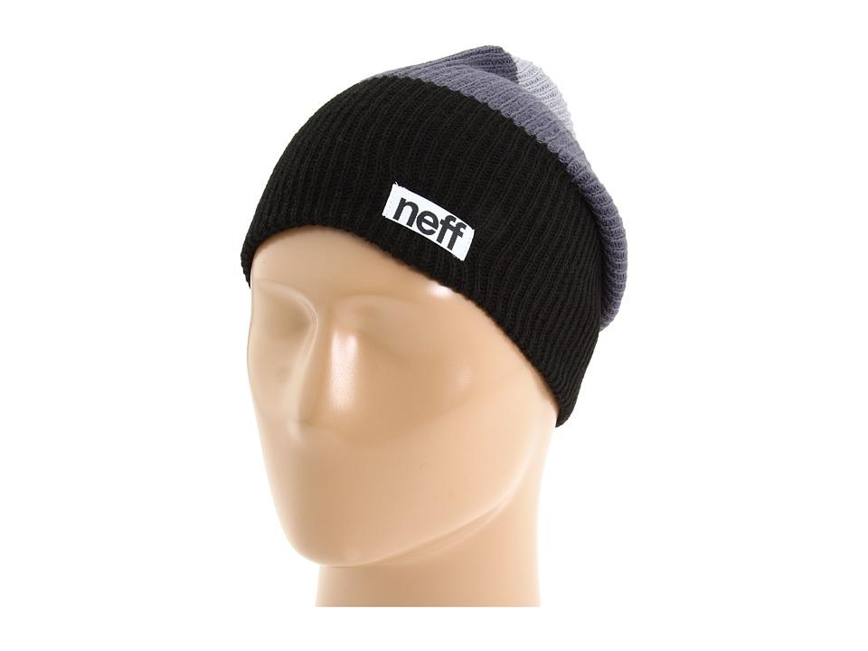 Neff - Trio Beanie (Black/Grey/Grey) Beanies