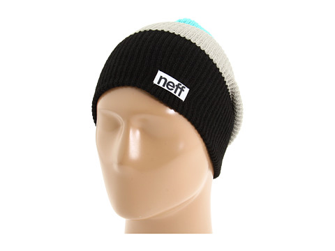Neff - Trio Beanie (Black/Grey/Ceramic) Beanies