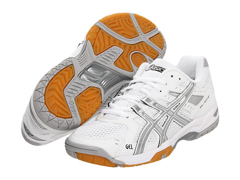 ASICS - GEL-Rocket 6 (White/Silver) Women's Volleyball Shoes