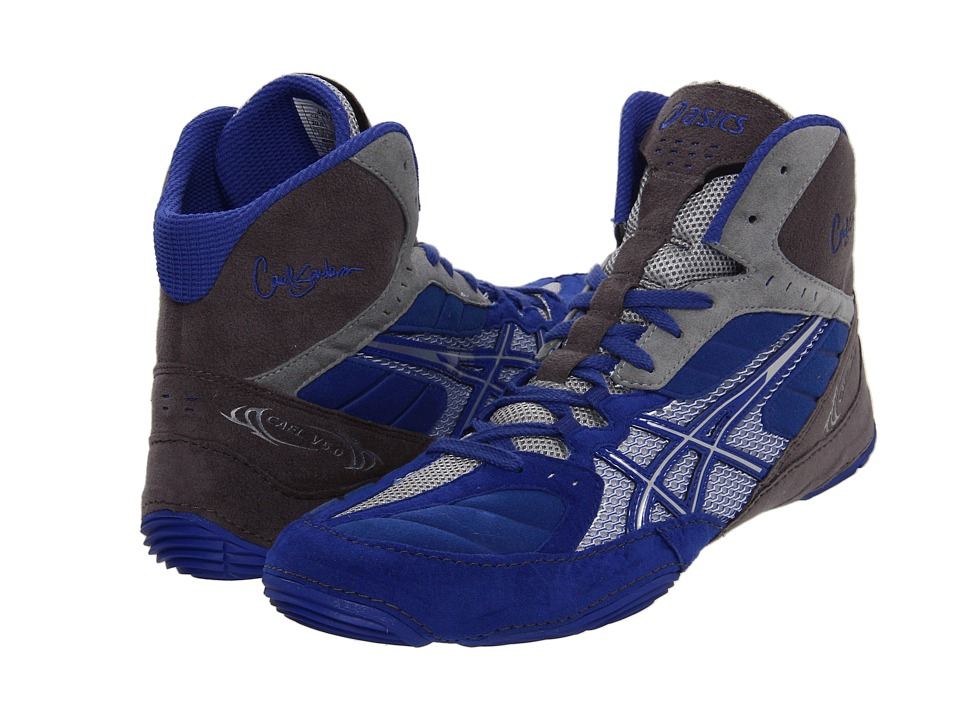 ASICS - Cael V5.0 (Royal Blue /Silver/Titanium) Men's Wrestling Shoes