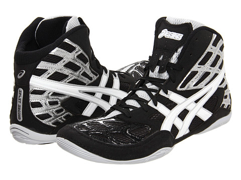 ASICS - Split Second 9 (Black/White/Silver) Men's Wrestling Shoes
