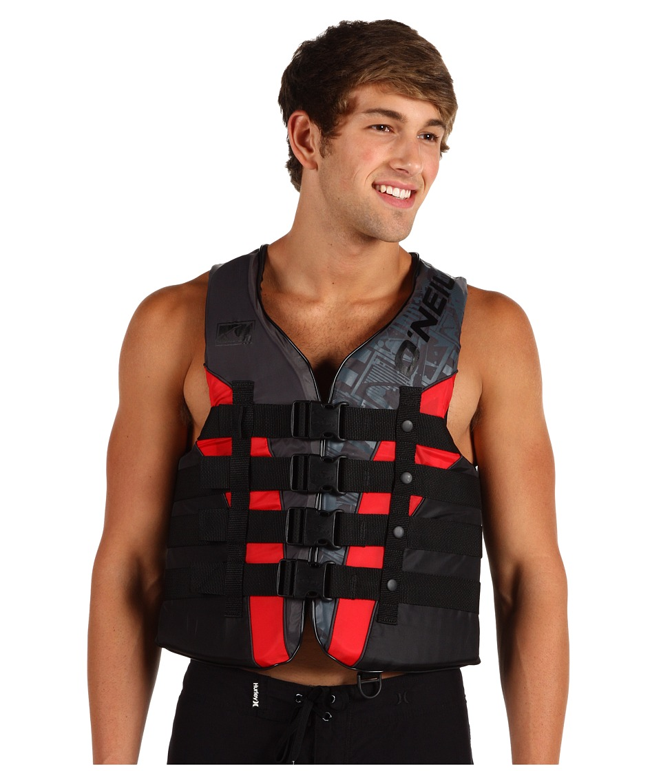O'Neill - Superlite USCG Vest (Metal/Red/Black/Metal) Men's Swimwear