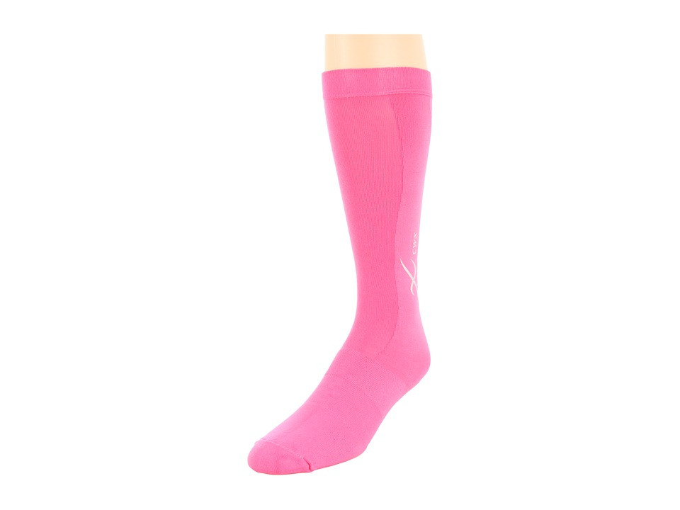 CW-X - Compression Support Socks (Raspberry) Knee High Socks Shoes