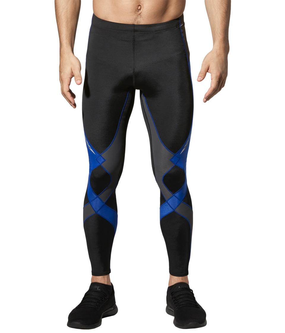 CW-X - Stabilyxtm Tight (Black/Grey/Blue) Men's Workout