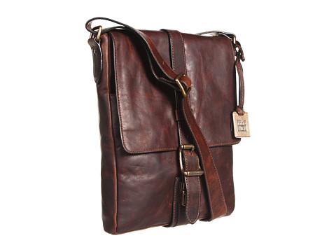 Frye - Logan Small Messenger (Dark Brown Antique Pull Up) Messenger Bags