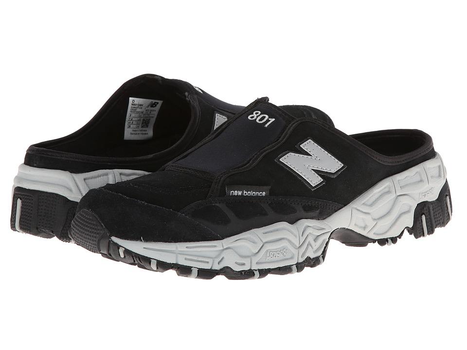 New Balance Classics - M801 Clog (Black/Grey) Men's Classic Shoes