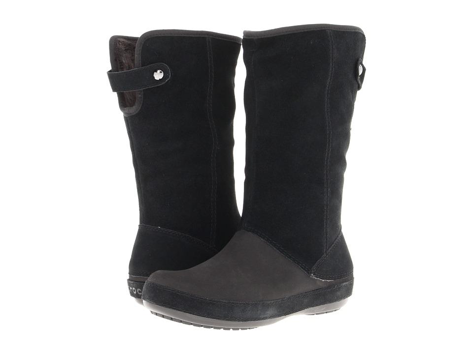 135ae15edf1ee UPC 883503902152 product image for Crocs - Berryessa Suede Boot (Black Black)  Women s ...