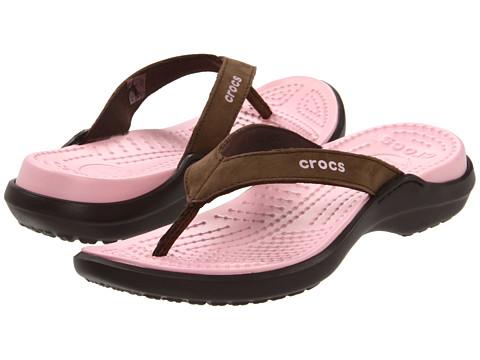 Crocs - Capri IV (Espresso/Petal Pink) Women