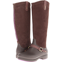 Crocs Equestrian Suede Tall Boot (Espresso Espresso) Footwear