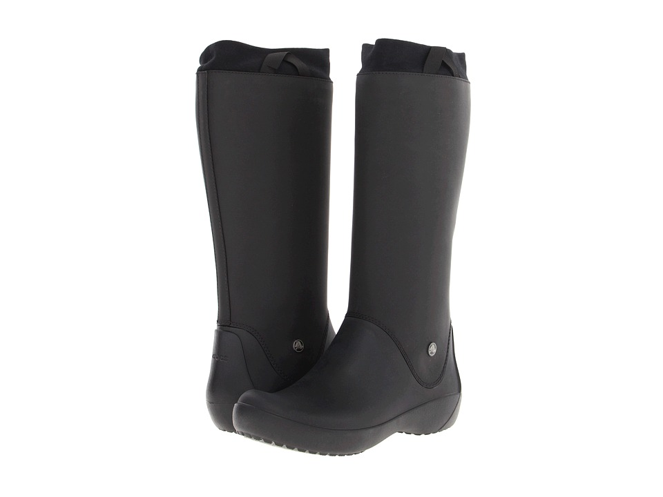 Crocs - Rainfloe Boot (Black/Black) Women's Rain Boots