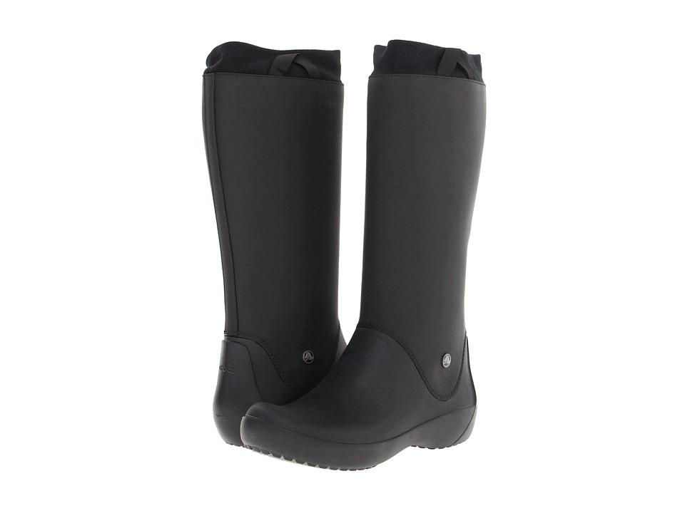 Crocs - Rainfloe Boot (Black/Black) Women's Rain Boots