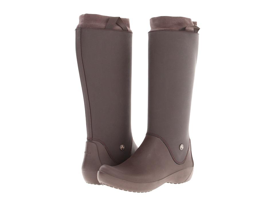 Crocs - Rainfloe Boot (Espresso/Espresso) Women's Rain Boots