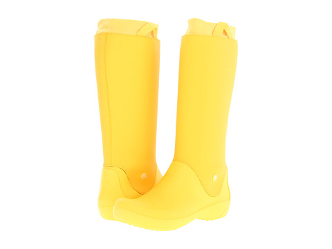 Crocs - Rainfloe Boot (Canary/Canary) Women's Rain Boots