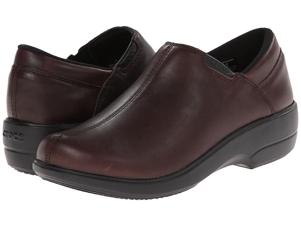 Crocs Work Chelea Shoe (Espresso/Black) Women's  Shoes