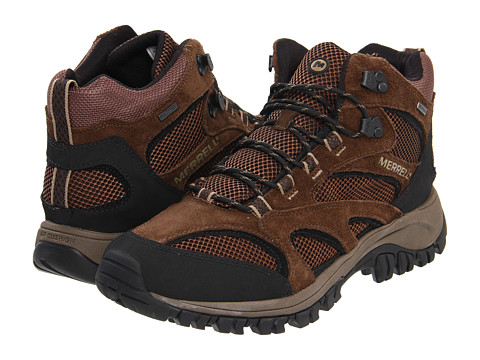 Merrell - Phoenix Mid Waterproof (Chocolate/Coriander) Men's Lace-up Boots