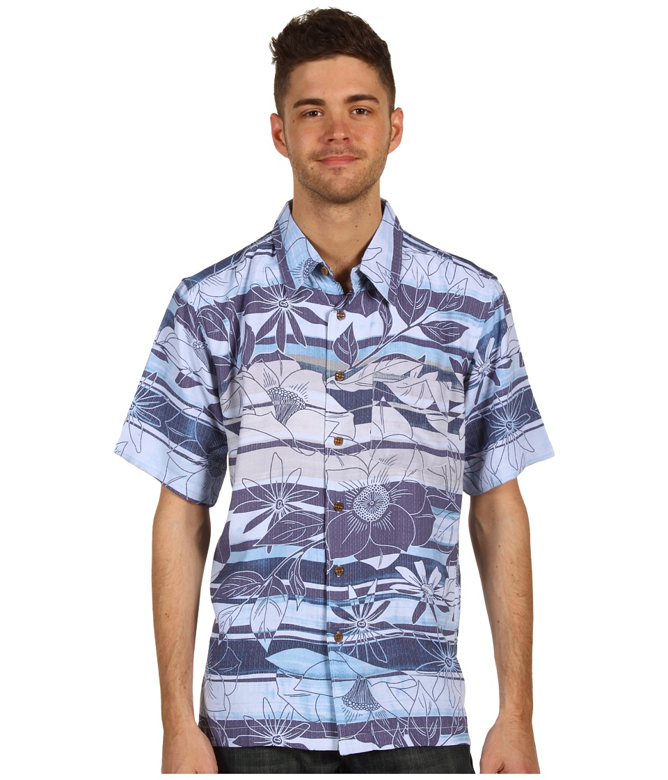 Quiksilver Waterman - Waterman Collection Polihale Beach Woven Shirt (Light Blue) Men's Short Sleeve Button Up