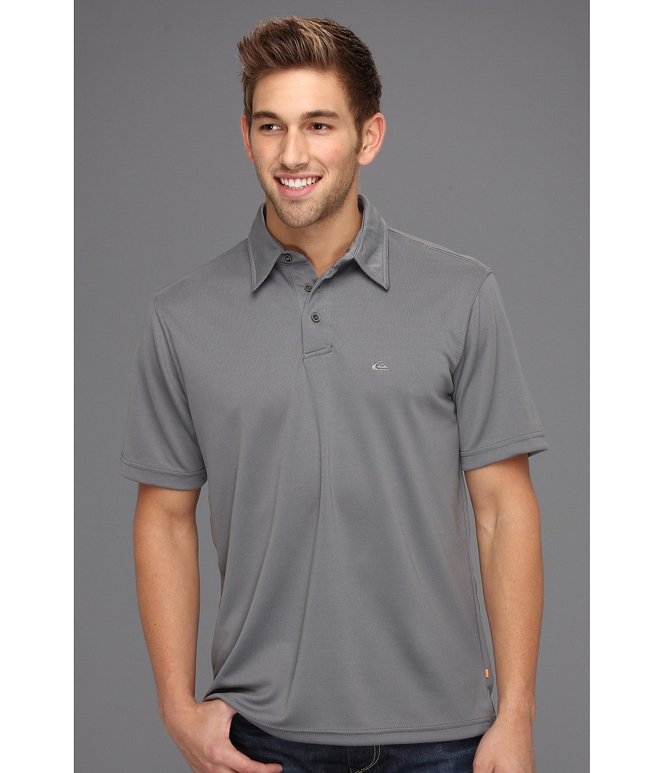 Quiksilver Waterman - Waterman Collection Water Polo 2 Knit Polo (Grey) Men