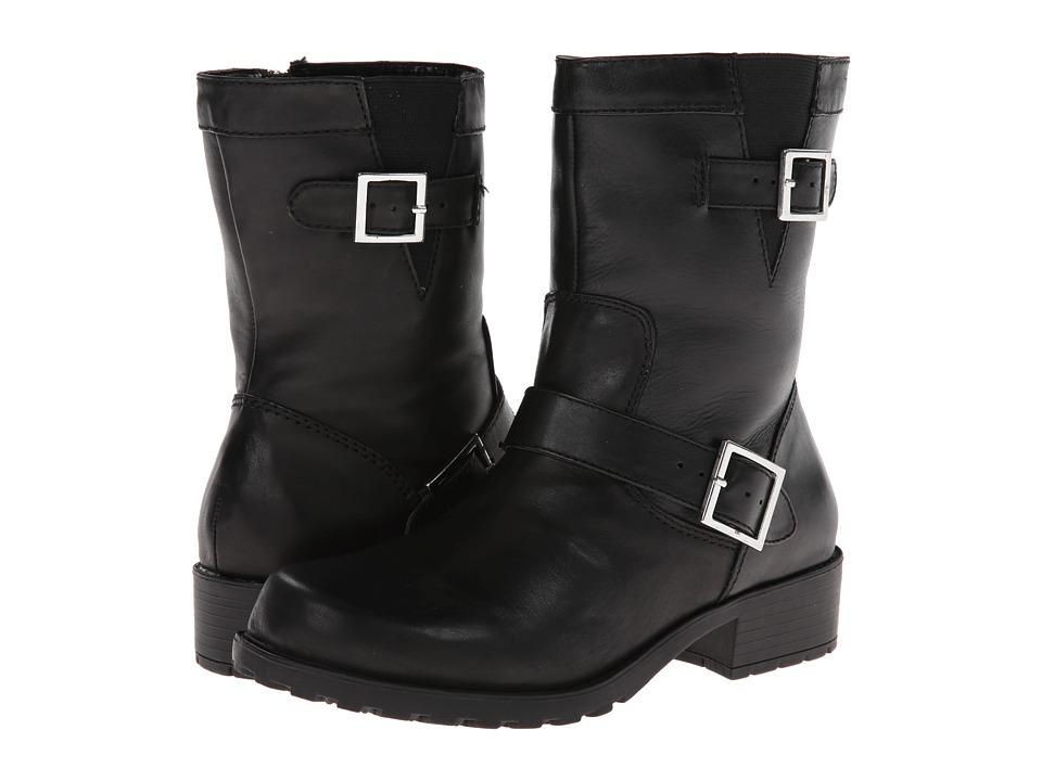 SoftWalk Bellville (Black Smooth Leather) Women