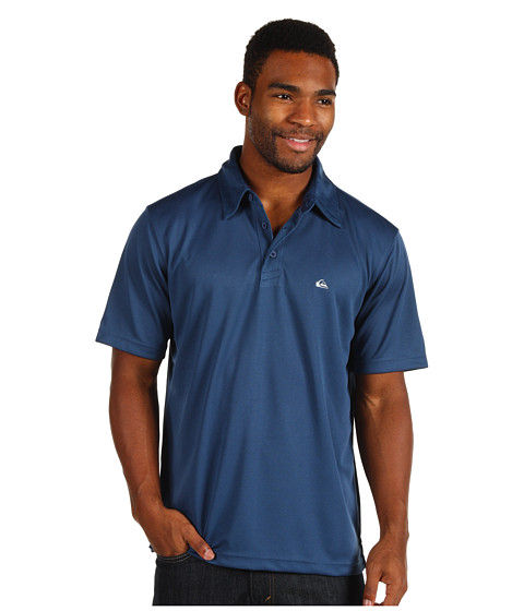 Quiksilver Waterman - Waterman Collection Water Polo 2 Knit Polo (Dark Blue) Men's Short Sleeve Pullover