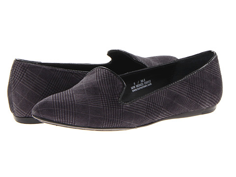 Born - Samella - Crown Collection (Grey Plaid Velvet) Women's Flat Shoes