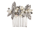 Nina Briella Pearl and Crystal Hair Comb (Ivory/Pearl)