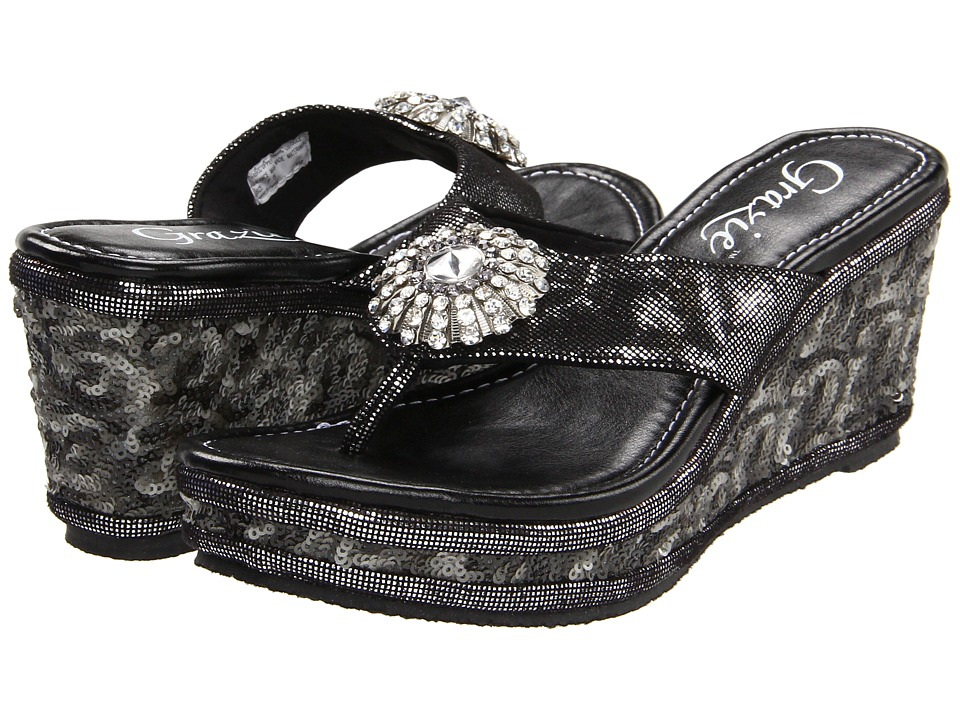 Grazie - Zoey (Black) Women's Sandals