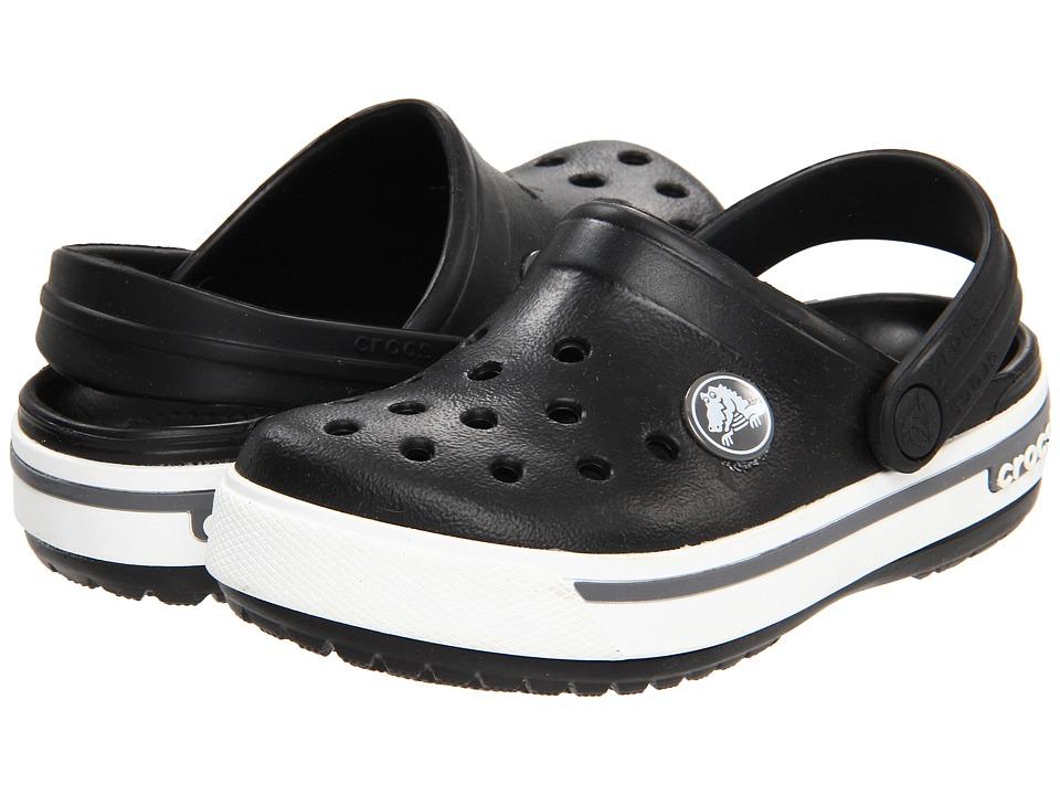 Crocs Kids - Crocband II.5 (Toddler/Little Kid) (Black/Charcoal) Kids Shoes