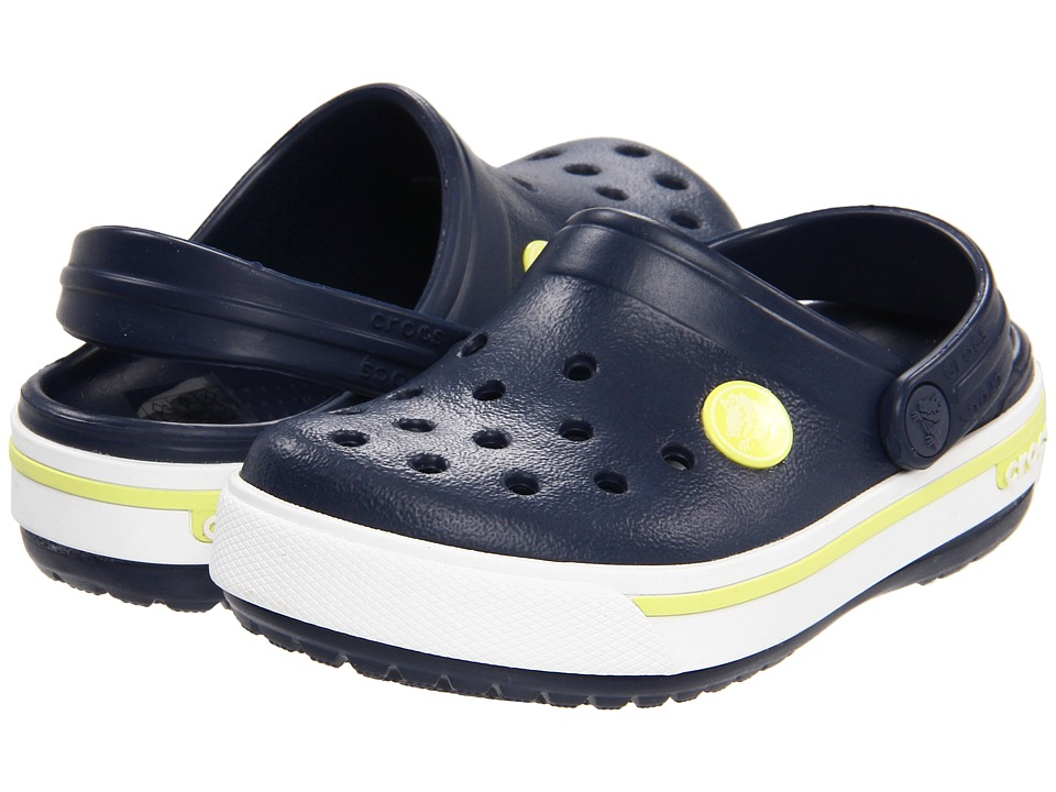 Crocs Kids - Crocband II.5 (Toddler/Little Kid) (Navy/Citrus) Kids Shoes