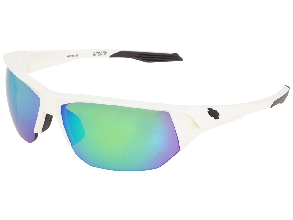 Spy Optic - Alpha (White/Bronze w/Green Spectra) Sport Sunglasses