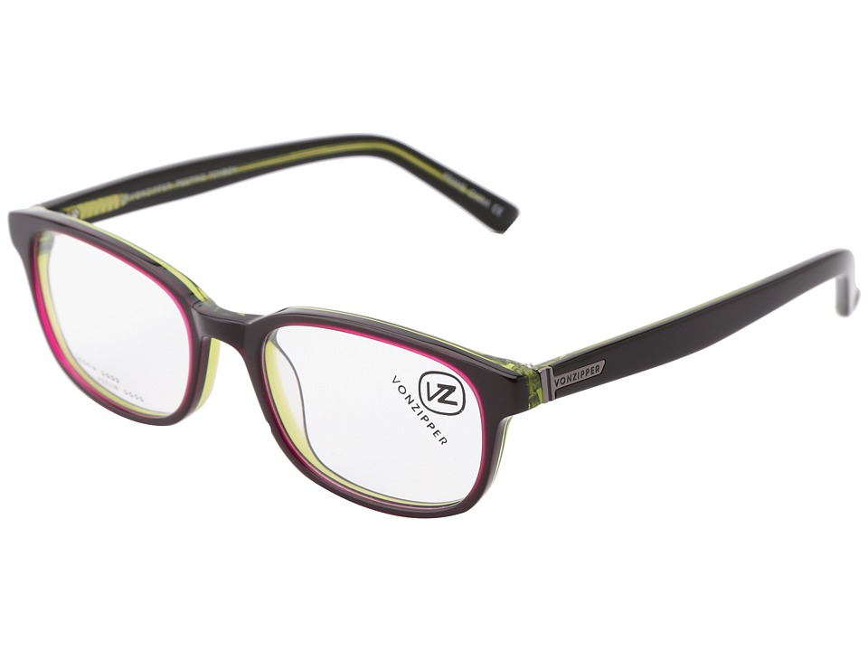 VonZipper - Peeping Tomboy (Black/Pink) Athletic Performance Sport Sunglasses