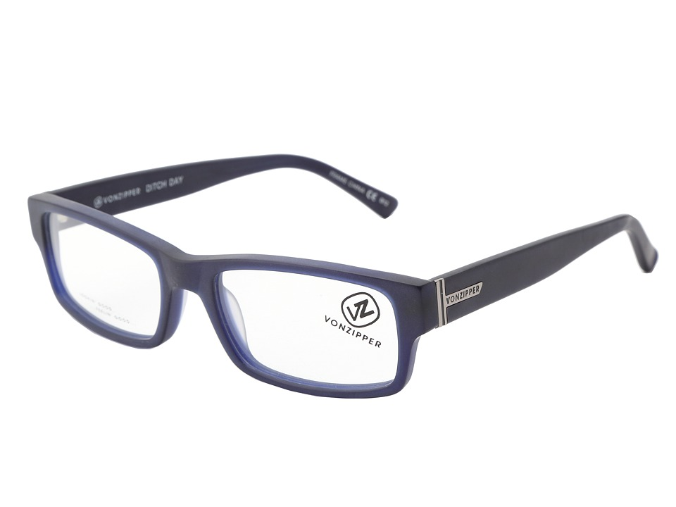 VonZipper - Ditch Day Reader (Navy) Athletic Performance Sport Sunglasses