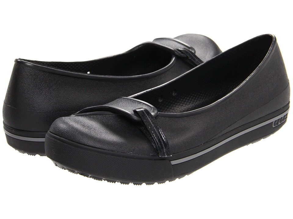 Crocs - Crocband 2.5 Flat (Black/Charcoal) Women's Flat Shoes