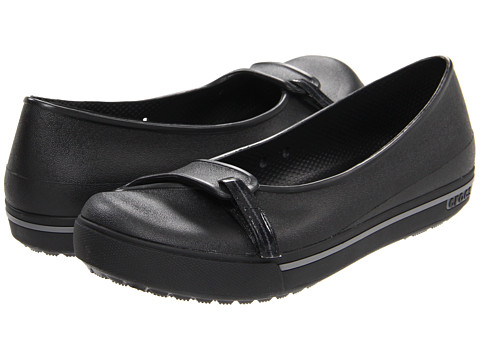 Crocs - Crocband 2.5 Flat (Black/Charcoal) Women