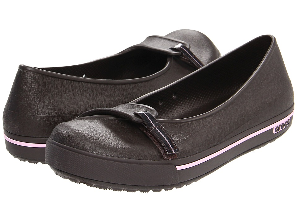 Crocs - Crocband 2.5 Flat (Espresso/Bubblegum) Women